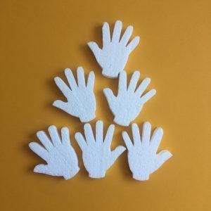 Hungarocell figurák - kezek (6db)