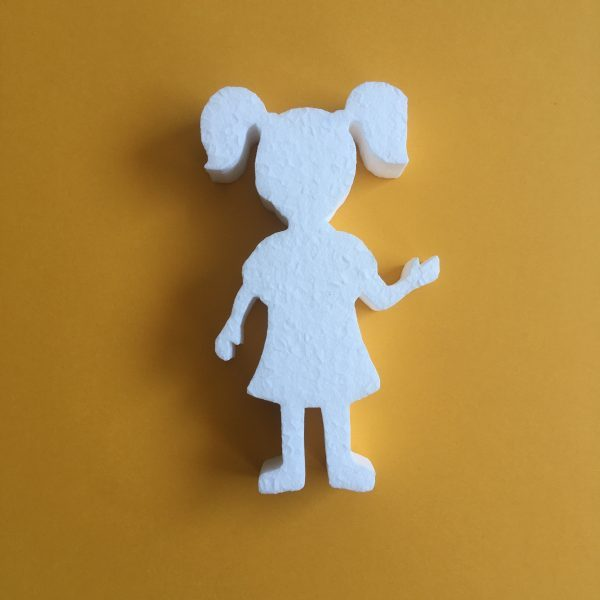 Hungarocell figura - copfos kislány