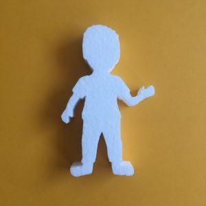 Hungarocell figura - kisfiú szemből
