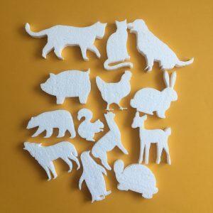 Hungarocell figurák - állatok (13db)