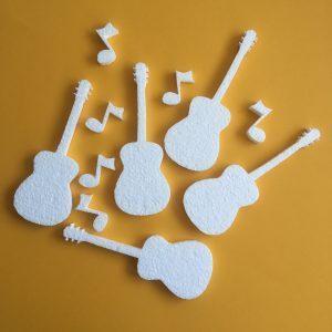 Hungarocell figurák - gitár hangjegyekkel (11db)