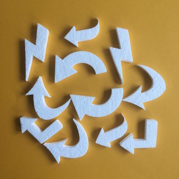 Hungarocell figurák - nyilak (11db)