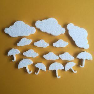 Hungarocell figurák - felhők esernyővel (15db)