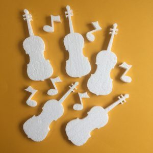 Hungarocell figurák - hegedű hangjegyekkel (11db)