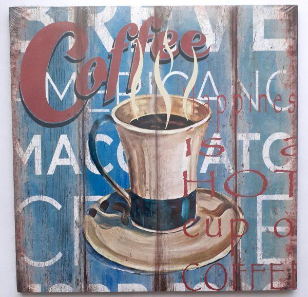 Falikép - kávés (27x27cm)