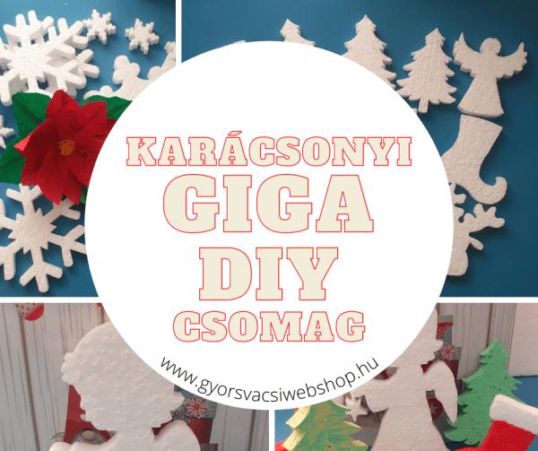 Karácsonyi GIGABOX - hungarocell figurák